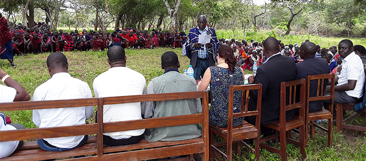 Community Consultative meeting at OLENGAPA