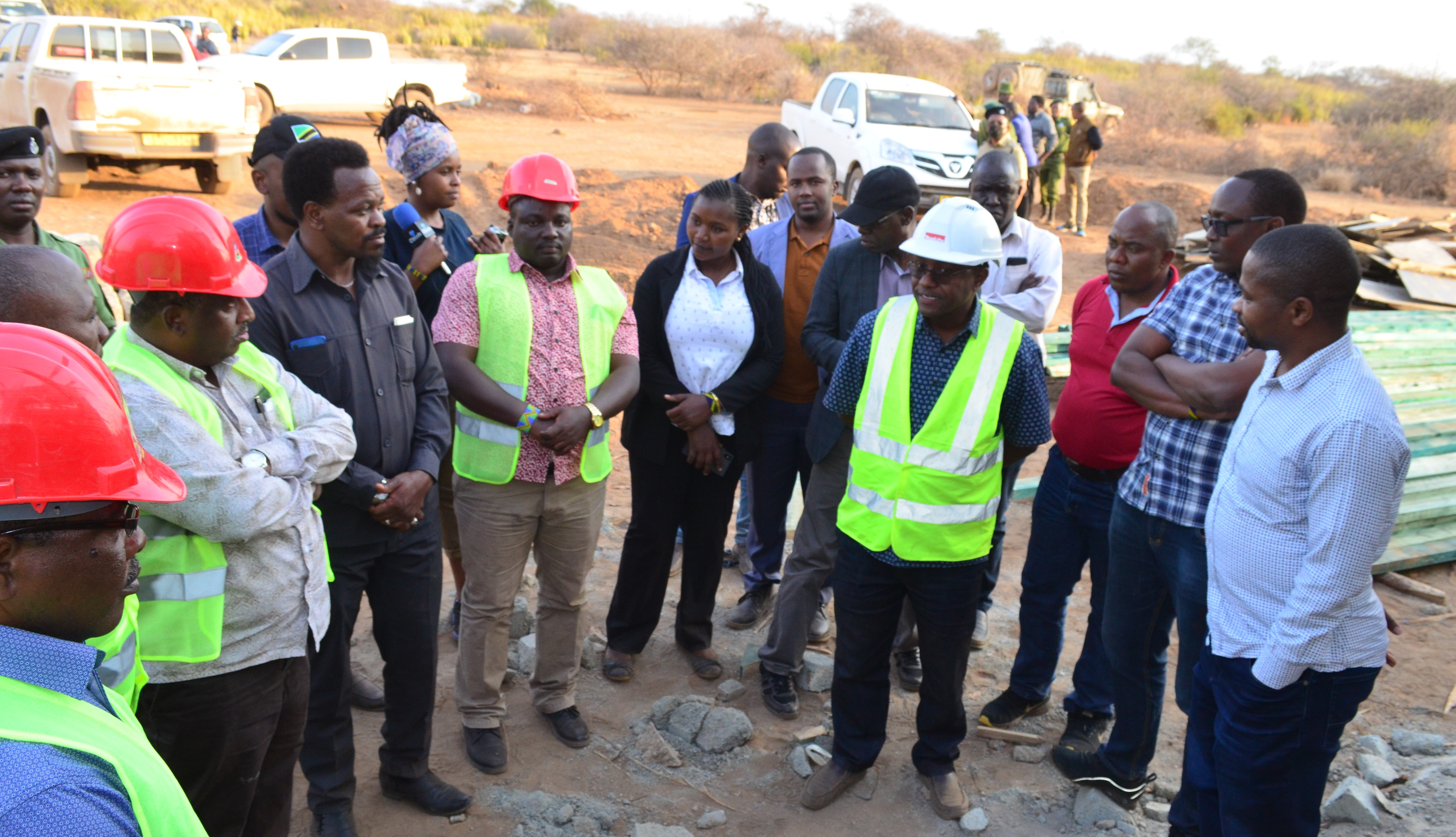 Longido DC monitoring visit to see investments under BMZ project.