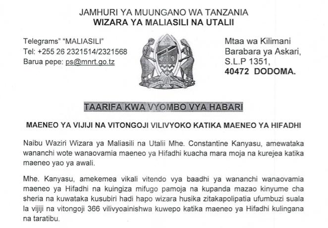 Tanzania Natural Resource Forum (TNRF) | Page 2 | Improving